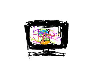 Tv glitch interrupts beautiful scenery