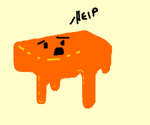 Melting cheeses cry for help