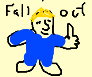 vault boy fallout 4 drawing by samuel mcguire drawception