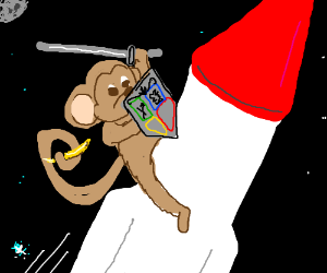 Shield monkey on a missile