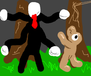Sid the sloth running from Slenderman.