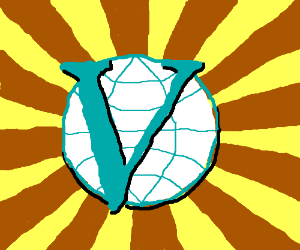 "a world ball with ""V"" on it"