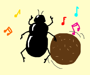 Dung beetle knows how to rock & roll