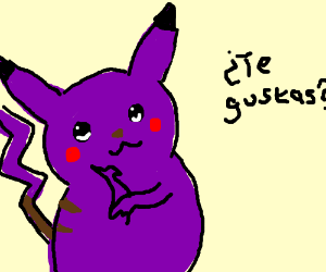 Pikachu isn't yellow anymore. :O
