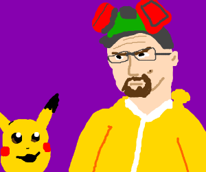 Pikachu replaces Jesse on Breaking Bad