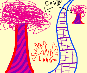 candy trees in candyland