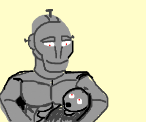 iron person had a iron baby