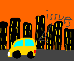 Yellow car has issues