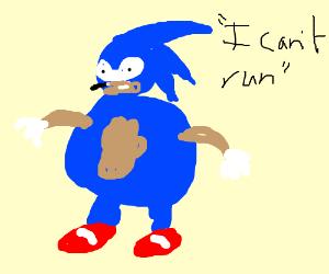 a sonic original character - Drawception