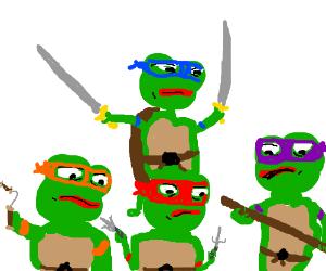 Teenage Mutant Ninja Pepes!