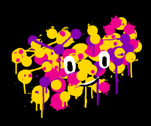 Inkling splatter by Yellow, Pink and Purple