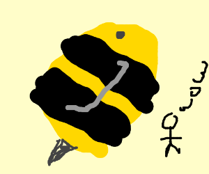 The bee is big!