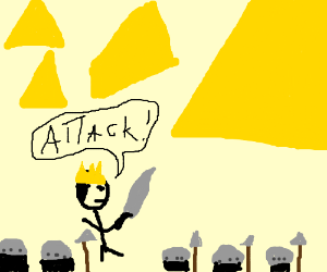 And the king attacked the pyramid