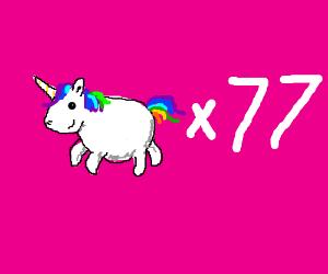 77 unicorns