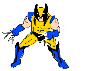 Wolverine's claws are scissors