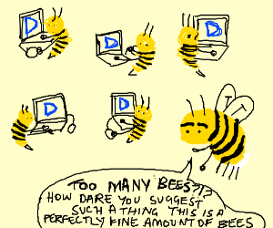 There are too many bees on this website.