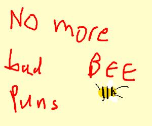 person saying B-E-E