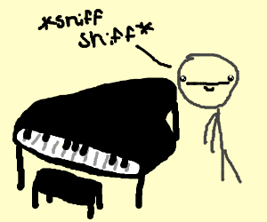 Sniffing a piano