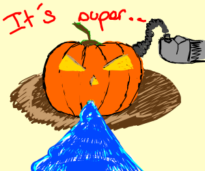 Pumpkin using Waterpump. It's very effective!