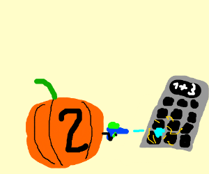 Machine makes a jack o lantern 2 use water gun