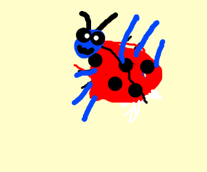 blue pokemon with ladybug shell