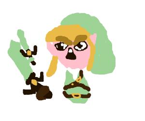 Link is so badass his sword has a sword