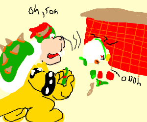 Bowser Junior is an Alcoholic