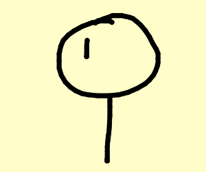 Incomplete stick person