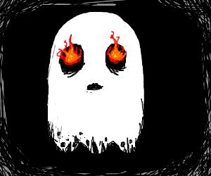 Ghost with fiery eyeballs