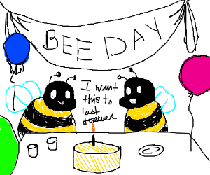 Bees want the bee day to last forever