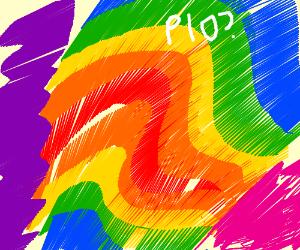 Rainbow beauty abstact art. Pass it on?