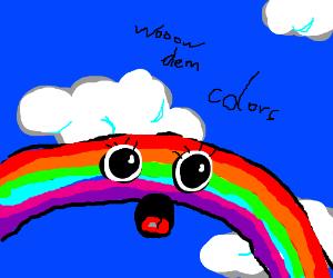 A rainbow on LSD