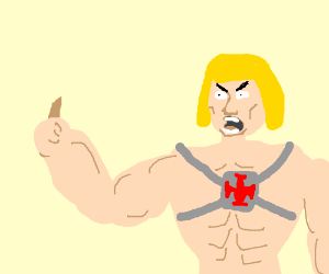 He-Man hates the vomit colored crayon