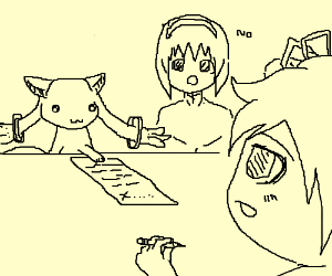 Don't let Madoka make a contracct with Kyubey!