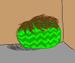 A hairy ol' watermelon