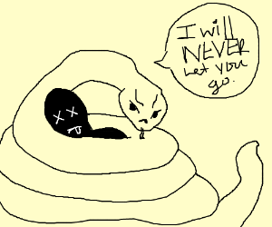 Boa Constrictor is never gonna let you go
