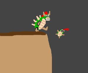 King Koopa goes Sparta on offspring