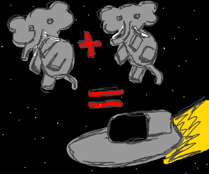 Two elephants combined is a spaceship
