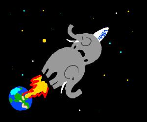 Elephant + Elephant = Spaceship