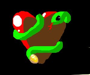 snake around heart