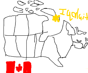 Map of Canada with Iqaluit highlighted