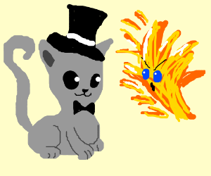 Sir Kitty Cat Finds A Fire Elemental