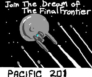 Propaganda poster for the starship enterprise