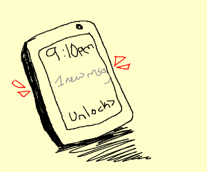 It's a mobile phone, with a text message
