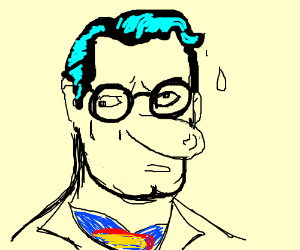 Derpy Clark Kent with Squidward nose