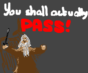 YOU SHALL NOT...wait,you actually can pass