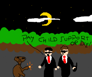 ET cant afford to pay child support