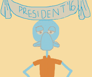 Squidward for president 2016