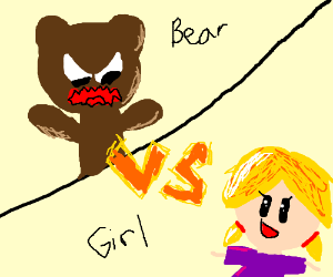 bear VS girl