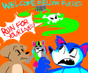 Chemical attack ruins furry convention - Drawception